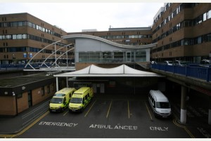 GV of QMC (Queen's Medical Centre), Nottingham.  PICTURE BY DAN MATTHAMS.